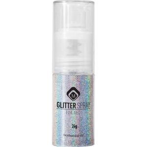 Glitter Spray Hologram Silver 24 gr