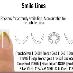Smile Lines Gold Circle